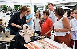 Op de kunstmarkt toonden dit weekend 75 artiesten hun talent. Stefaan Beel<br>