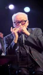 Toots Thielemans: indrukwekkend optreden op Jazz Middelheim.<br> Bruno Bollaert<br>