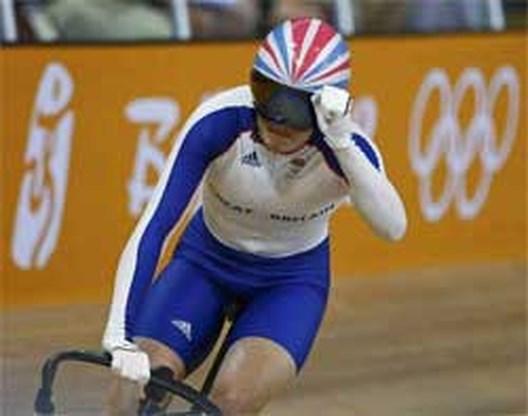 OS Baanwielrennen: Victoria Pendleton wint de sprint