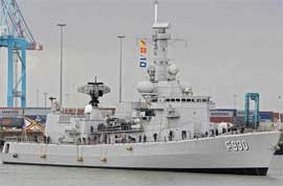 Fregat Leopold I naar Libanon