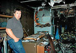 De brandweer had gisteren de handen vol om de brand te blussen.Ralf Eicker