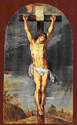 De 'Christus aan het kruis' ging verloren, dachten de Rubens-specialisten.<br> if<br>