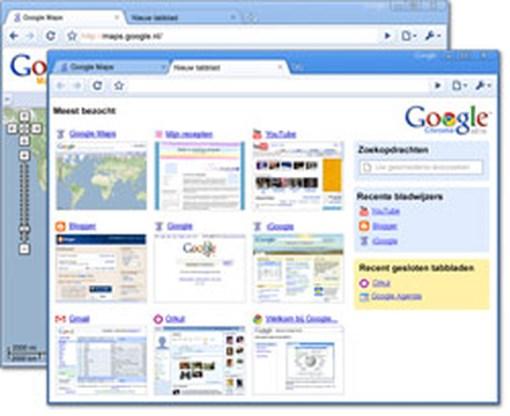 Google Chrome staat voor sober en snel surfen