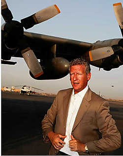 Pieter De Crem (CD&V) in Kandahar. De minister krijgt zware kritiek te slikken. belga<br>