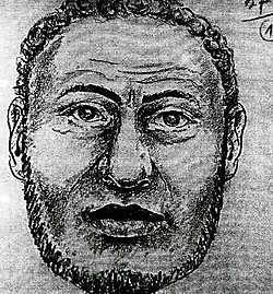 De schets die een getuige maakte na de moord op Joseph Wybran. rr<br>