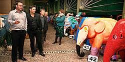 Aan belangstelling en kooplustigen ontbrak het alvast niet, gisteravond bij de veiling van de kunstwerken van de Elephant Parade.