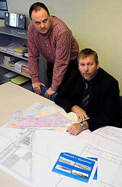 Cool Solutions van Peter Simons en Romuald Lagast bouwen een nieuwe werkplaats op het industrieterrein Plassendale. Peter Maenhoudt<br>