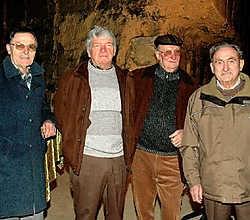 Leon Vos, Mathieu Scholberg, Pierre Tans en Gerard Biesmans maakten de ramp destijds mee. Gert Devocht<br>