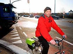 Peter Verstraeten wil veiliger fietsen in Herent. Johan Van Cutsem