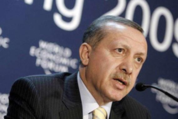 Erdogan boos weg uit discussie Davos