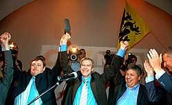 Het programma waarmee is CD&amp;V/N-VA nog de laatste federale verkiezingen won, is verre van gerealiseerd. mh<br>