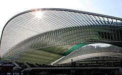 Het station Liège-Guillemins van de Spaanse architect Santiago Calatrava: een van de paradepaardjes van het nieuwe Luik.Carlo Verfaille<br>