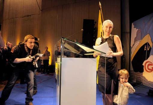 Marie-Rose Morel, die de Europese lijst duwt, was de ster van het congres van Vlaams Belang.Eric de Mildt