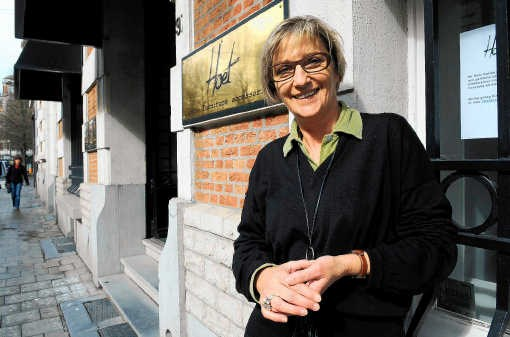 Ria Gykiere, voorzitter van de handelaarsvereniging Dansaert: 'Donderdag is de uitgaansdag in Brussel.'hrb