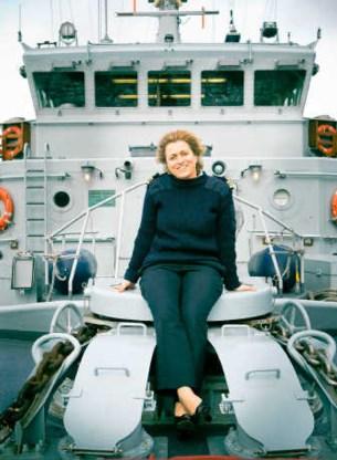 Luitenant ter zee eerste klasse Pascale Van Leeuwen aan boord van 'haar' mijnenjager: 'Zeg geen boot tegen mijn schip!'Sarah Van den Elsken