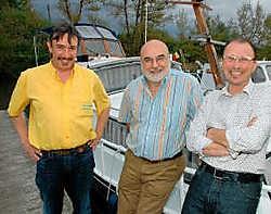 Het bestuur van de Jachtclub Wervik met voorzitter Ivan Vandeperre, secretaris Eric Steyaert en penningmeester Johan Desmet maakt een nieuwe start.Luc Vanthuyne
