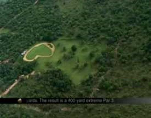 VIDEO: Extreem golfen vervangt caddie door helikopter
