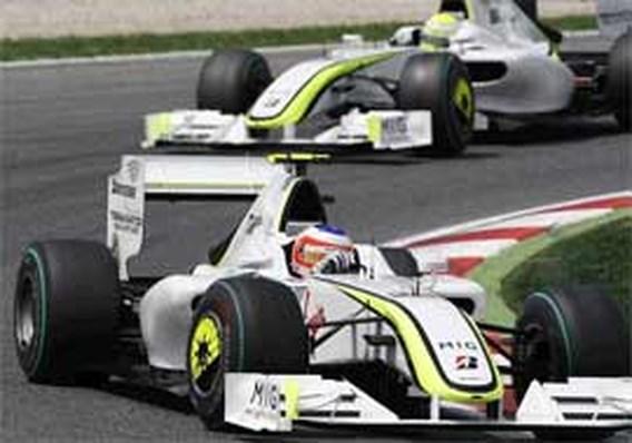 Jenson Button wint in Spanje