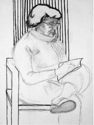 Zulma, getekend door haar man Roger Raveel.archief Luc Levrau