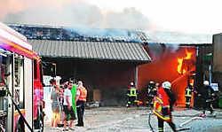 Vijfenveertig ton stro ging verloren in de brand. Eddy Vuylsteke