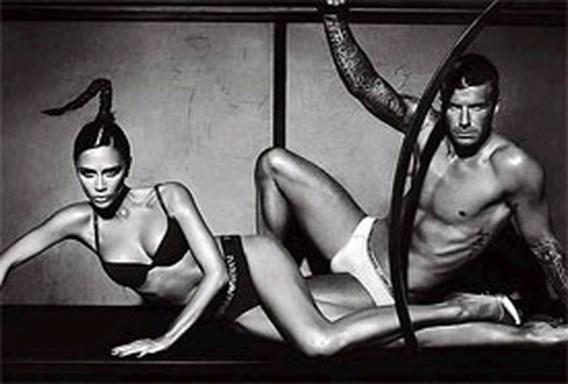 VIDEO: De Beckhams in hun ondergoed