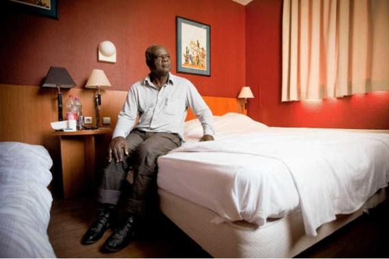 De asielzoekers zijn heel tevreden met de hotelaccommodatie.Jimmy Kets