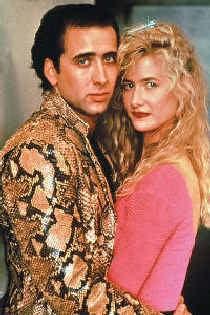 Nicolas Cage en Laura Dern in 'Wild at heart'.
