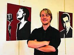 Kunstenaar Karel Linseele liet zich vooral inspireren door strips. mm