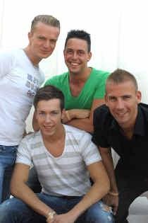 De nieuwe Get Ready: van links af: Jimmy Samyn, Kenny Phillipaars, Tom De Blaes en Koen Bruggemans.
