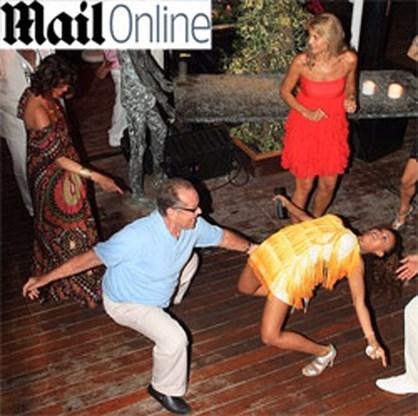 Jack Nicholson leeft zich uit op de dansvloer