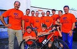 Vzw Hoebelbike pakt zondag uit met een primeur: een mountainbike-<br>traject voor kinderen. Yvan De Saedeleer