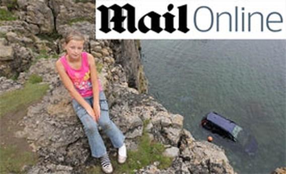 Auto rijdt van klif, 11-jarige ontsnapt aan de dood