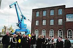 De Blauwe Kraan wordt voor de Acec-site én voor de nieuwe woon-, werk- en winkelwijk die er verrijst, ongetwijfeld een blikvanger én een baken. gia