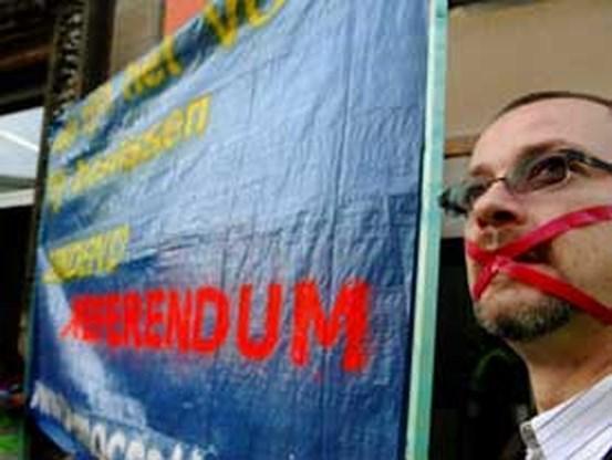 Actie voor bindend referendum