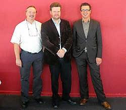 Van links naar rechts: projectleider Dirk Kenis, gedeputeerde Frank Smeets en directeur phl Ben Lambrechts. ksg