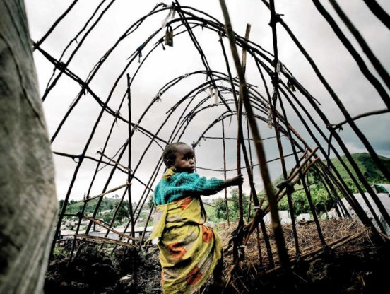 Mugunga III is vandaag nog het enige ontheemdenkamp rondom Goma.panos