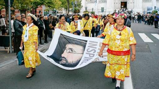 Leuven sloot de Damiaanviering af met een processie. Koen Merens