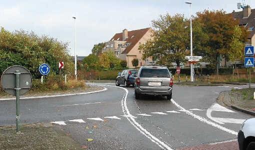Een foutieve wegmarkering in Herentals bracht veel wagenbestuurders in de war. Marc Peeters