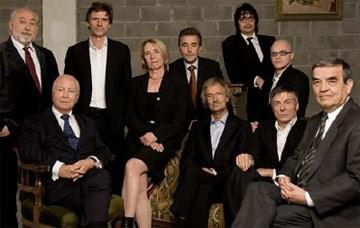 De juryleden van De Slimste Mens
