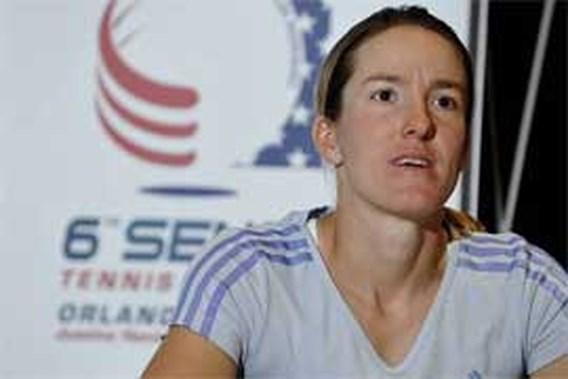Justine Henin traint in Florida