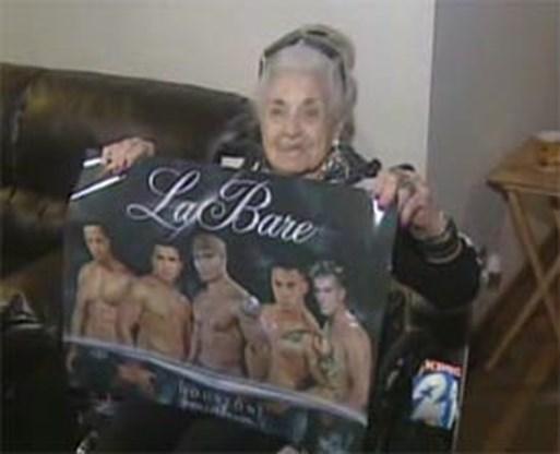 105-jarige viert verjaardag in stripclub
