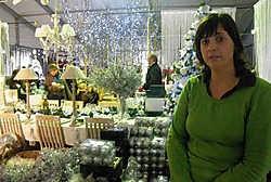 Kristien Stragier leeft het hele jaar door in kerstsfeer: 'Maar het verveelt zeker niet.' Arne Vansteenkiste