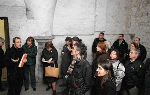 Onder het stadhuis loopt een labyrint van gangen en kelders. Gianni Barbieux.