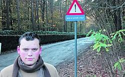 Tom Beirnaert hield samen met andere bewoners een petitie om het gemeentebestuur aan te zetten de Oudeheerweg-Heide beter te verharden. Jan Van de Velde