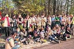 De scouts van Sint-Rochus toonde hun hart voor de natuur in de Berendries. Yvan De Saedeleer
