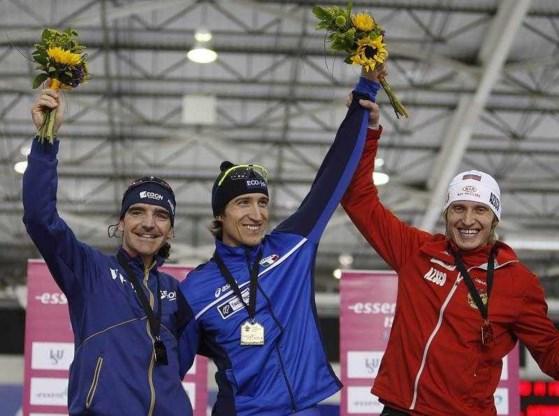 Enrico Fabris wint wereldbekerwedstrijd langebaanschaatsen
