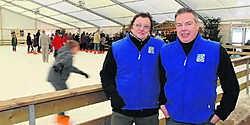 Frans Dereymaeker (links): moe maar gelukkig na een bijzonder geslaagde eerste editie van Halle Schaatst. Yvan De Saedeleer