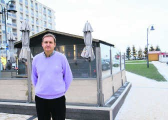 Als het van Christophe Declerck afhangt, komen er in april vier loungebars op het Albertplein in Knokke-Zoute. Norbert Minne