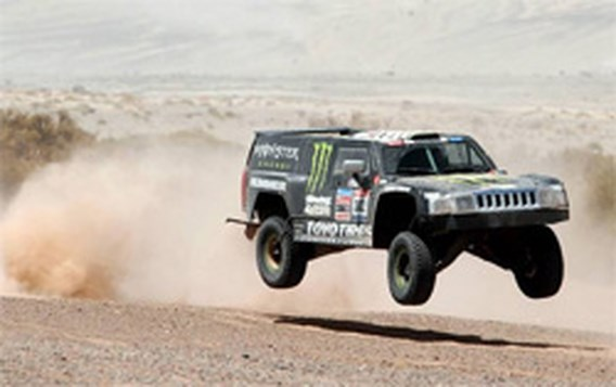 Robby Gordon wint vierde etappe in Dakar Rally