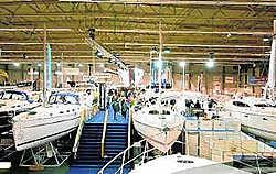 Op de Boat Show stallen verzamelaars hun boten uit. rr